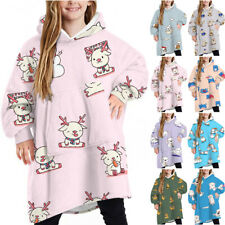 Kids Unisex Animal Print Winter Hooded Sweatshirt Hoodie Pullover Novelty Tops