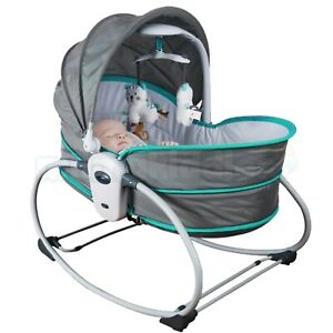 Baby Rocker Swing Infant 5in1 Chair Newborn Bouncer Bassinet Bed