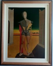 BEAUTIFUL PAINTING GIORGIO DE CHIRICO 1937 WITH FRAME IN GOOD CONDITION