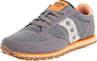 Saucony Originals Men's Jazz Low Pro Vegan Sneaker,Charcoal/Orange,10 M US