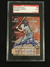 VLADIMIR GUERRERO 2000 TOPPS FINEST SIGNED AUTOGRAPHED CARD #130 SGC AUTHENTIC
