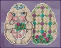 MILL HILL JIM SHORE Counted Cross Stitch Kit - BUNNY EGG JS18-1812