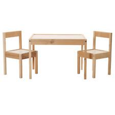 IKEA Lätt Kindermöbel Kindertisch mit 2 Stühlen Kinder Stuhl Tisch Set Kiefer