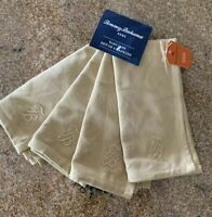 TOMMY BAHAMA NAPKINS SAND/BEIGE Cotton Blend (4) NIP