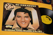 ELVIS PRESLEY 2LP 40 SUCCESSI ORIG UK GATEFOLD COVER