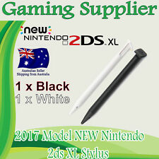 2 X New Nintendo 2DS XL (2017 Model) Stylus Touch Screen Pen BLACK & WHITE