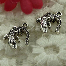 free ship 180 pieces Antique silver lizard charms 15x14mm #2577