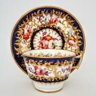 Antique Coalport Floral Roses Dresden Sprays & Gold Cabinet Cup & Saucer c1820