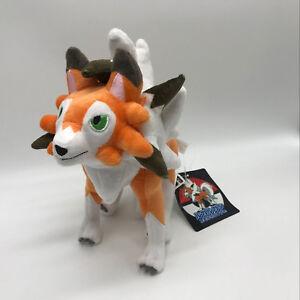 """Sun/Moon Lycanroc Dusk Form Plush Teddy Doll Soft Toy Stuffed Animal 10"""""""