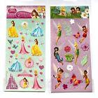 2 sheets Kids Girls Stickers Disney Princess and Fairies