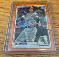 2020 Bowman Chrome Draft Sapphire Orange #/25 Blake Rutherford Chicago White Sox