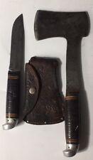 Vintage Western USA Boulder Colo. Knife Axe / Hatchet Combination Set