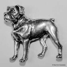 Rottweiler Pewter Pin Brooch -British Hand Crafted- Rottie, Police Dog