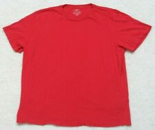 H&M LOGG Red Crewneck Solid Tee T-Shirt Top Size Large Cotton Mans Short Sleeve