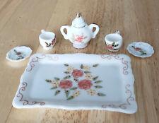 Miniature Tea Set Bone China Handcrafted in Thailand