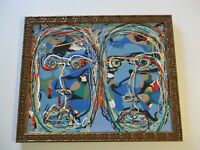 SAMUEL CONTEMPORARY ABSTRACT EXPRESSIONISM PAINTING  POP PORTRAIT CALIFORNIA