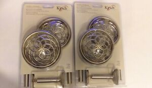 Kirsch Medallion Holdbacks for Curtains 2 pair New In Package