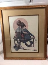 Norman Rockwell Litho In USA LITTLE SPOONERS - SUNSET