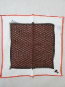 Corneliani Men's 100% Linen Pocket Square Handkerchief Gift for Him NWT