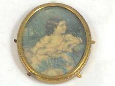 Vintage Miniature Concave Glass Picture Frame