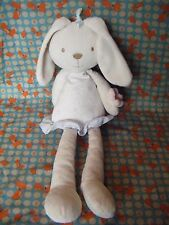 """MARKS & SPENCER CREAM  BUNNY RABBIT  FLORAL DRESS  SOFT TOY 15"""" APPROX PRELOVED"""