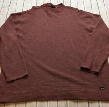 90s VTG DOCKERS STRIPED Red Gray GRUNGE Long Sleeve Skate T Shirt Boxy XXL Bold