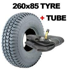 260x85 Mobility Scooter Tyre 3.00-4 Block Tread Rear Grey Tire 10x3 300 x 4