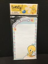 Notepad ~ Totally Tweety Kitchen Magnetic Notes Lined Stationery 60 Sheets~ New