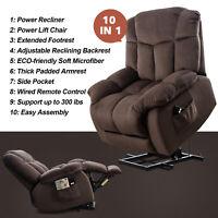 Power Lift Recliner Chair for Elderly 10 in 1 Overstuffed Lounge Sofa Bedroom US