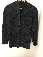 Women's Jacket Blazer Size 36 Padded Shoulder Pattern <JJ101