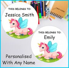 32 Personalised  Unicorn This Belongs To .. Classroom labels ,Stickers, School