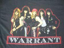 Vintage 80's WARRANT 1989 Heavy Metal Concert Tour glam hair rock T Shirt L