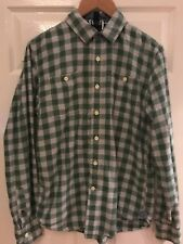 Tommy Hilfiger Denim - Green and White Checked Shirt in Medium