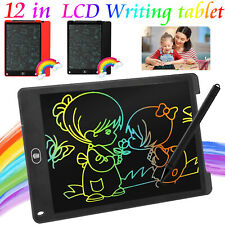 12' Lcd Writing Drawing Tablet Pad Notepad Practice Board Clipboard Ultra-thin