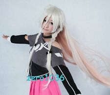 New VOCALOID3 IA Cosplay party fashion hair end Baby Pink Gray gradient wig