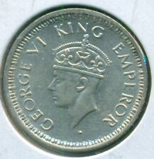 1945 INDIA 1/4 RUPEE, ALMOST UNCIRCULATED, GREAT PRICE!