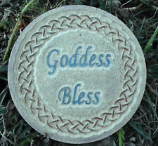 "Goddess bless gothic mold concrete plaster plaque mould 10"" x 3/4"" thick"