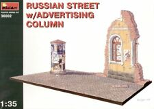 Mini Art 1/35 Russian Street with Ads Column Diorama Base Model Kit