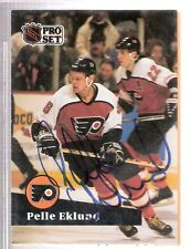 Autographed 1991 Pro Set Pelle Eklund Philadelphia Flyers