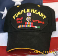 PURPLE HEART DESERT STORM GULF HAT US AIR FORCE ARMY PIN UP MARINES NAVY USCG