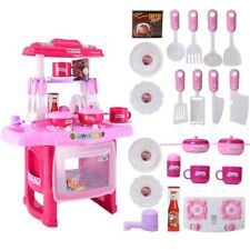 Kitchen Play Set For Kids Pretend Playset Baker Toy Cooking Toddler Girls&Boys