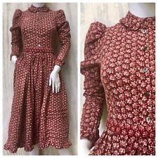 Dress Prairie Vintage LAURA ASHLEY 80s Carno Wales Victorian Tea Calico Floral