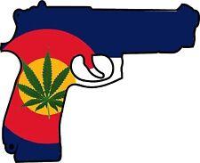 Colorado Flag Gun Sticker