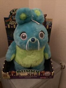 DISNEY PIXAR TOY STORY SIGNATURE COLLECTION BUNNY DELUXE TALKING CARNIVAL PLUSH