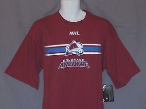 NEW Colorado Avalanche NHL Hockey Short Sleeve Majestic T-Shirt Top Mens Size