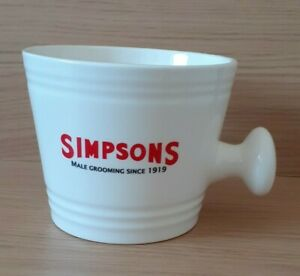 Simpsons Male Grooming Since 1919 Ceramic Soap Dish - Barber Shop