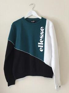 Ellesse Womens Martima Sweatshirt Teal Green Split UK 12