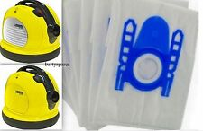 TEN VACUUM CLEANER hoover DUST BAGS for KARCHER VC6100 VC6200 VC6300