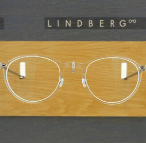 LINDBERG NOW 6527 48 C01 CRYSTAL ROUND CLEAR EYEGLASSES SPECTACLE FRAMES DENMARK