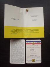 1967 BOY SCOUTS CHAIRMAN MEMBERSHIP CARDS & PIN - PACK 119 LEWISTON PA